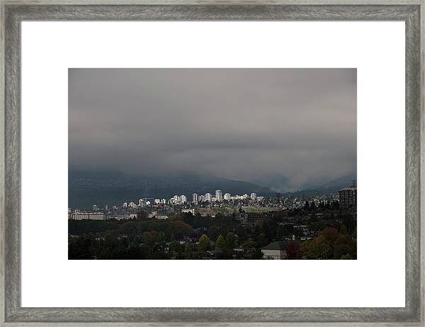 Framed Print featuring the photograph North Vancouver  by Juan Contreras