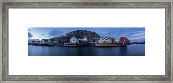 Norwegian Seaside Town Nyksund Framed Print
