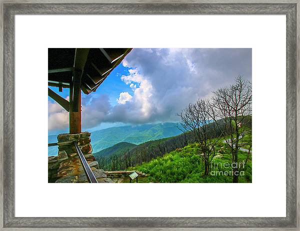 Framed Print featuring the photograph Observation Tower View by Tom Claud
