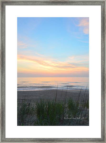 Obx Sunrise Framed Print