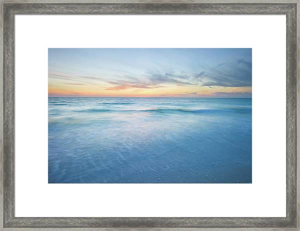 Ocean Beach Sunset Framed Print