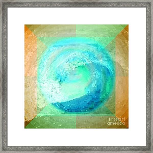 Ocean Earth Framed Print