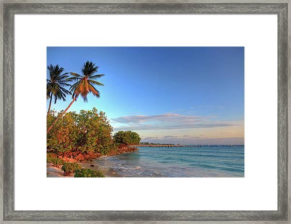 Oistins Beach, Barbados Framed Print