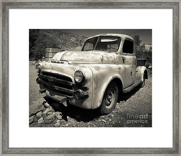 Old Dodge Truck In The Desert Framed Print