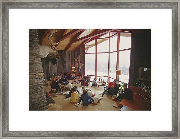 On The Slopes Of Sugarbush Framed Print