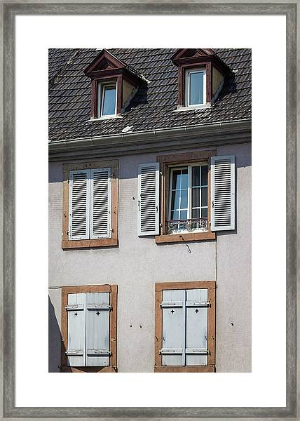 Open And Closed Framed Print