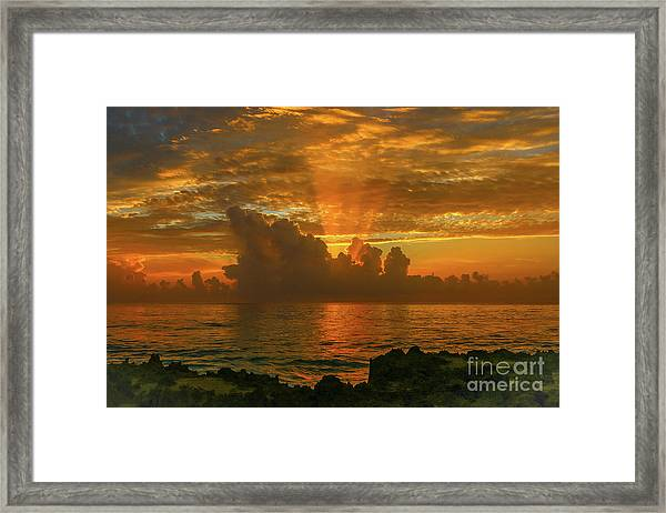 Framed Print featuring the photograph Orange Sun Rays by Tom Claud