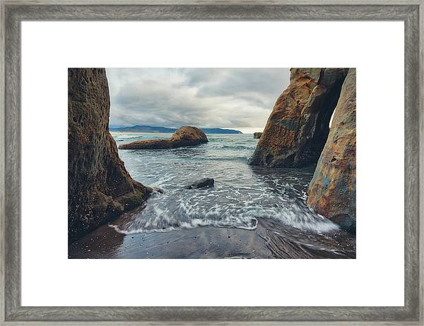 Framed Print featuring the photograph Oregon Coast by Nicole Young