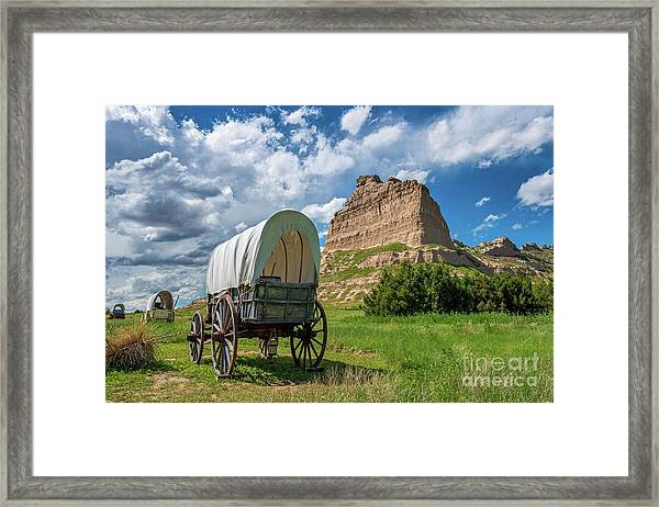 Out On The Oregon Trail Framed Print
