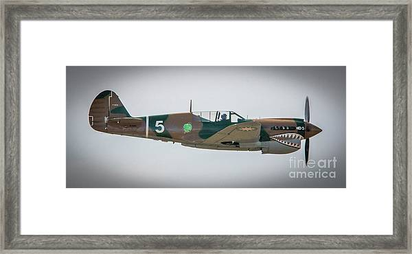 Framed Print featuring the photograph P-40 Warhawk by Tom Claud