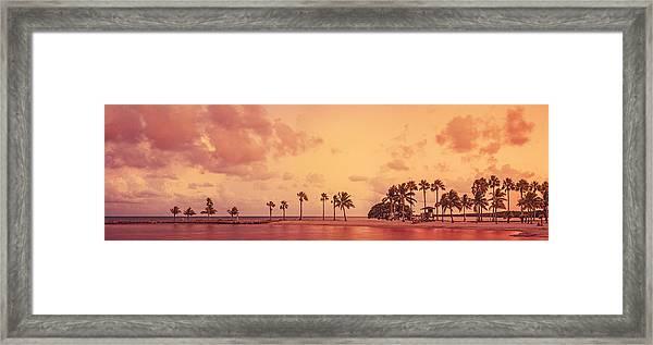 Panorama Beach Miami Framed Print by Thepalmer