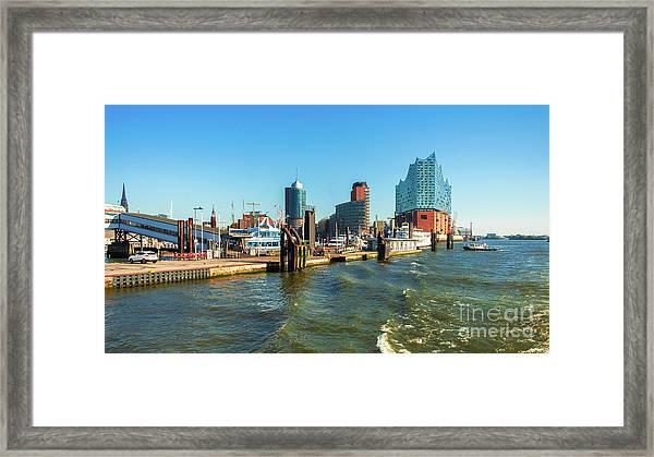 Panoramic View Of Hamburg. Framed Print