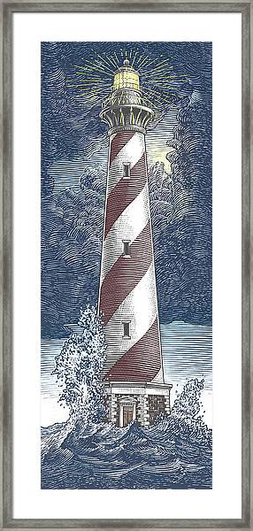 Framed Print featuring the drawing Peace In The Storm by Clint Hansen