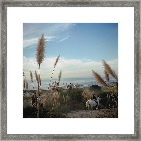 Pebble Beach Framed Print by Slim Aarons