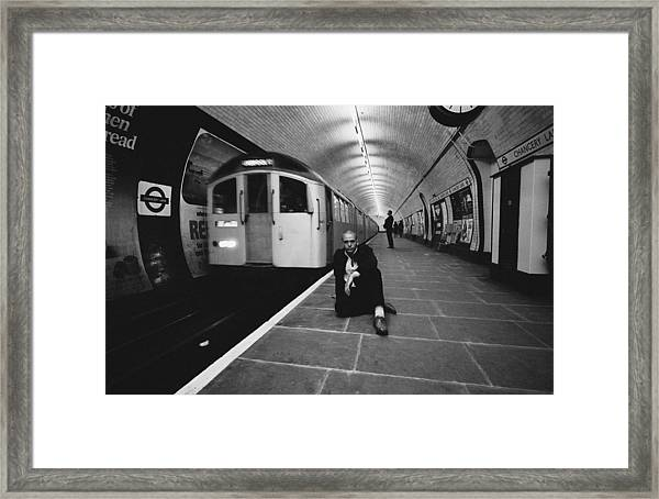 Peter Gabriel Framed Print by Fin Costello