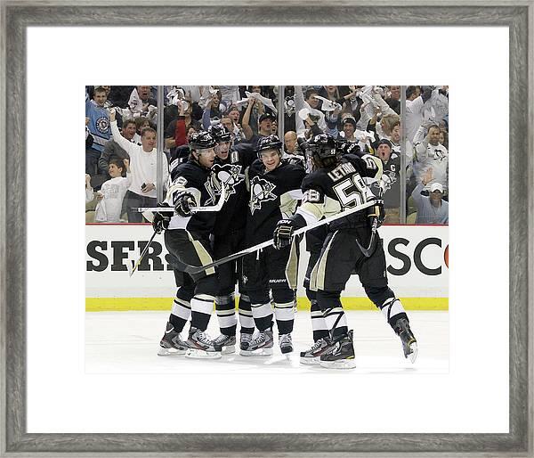 Philadelphia Flyers V Pittsburgh Framed Print by Justin K. Aller