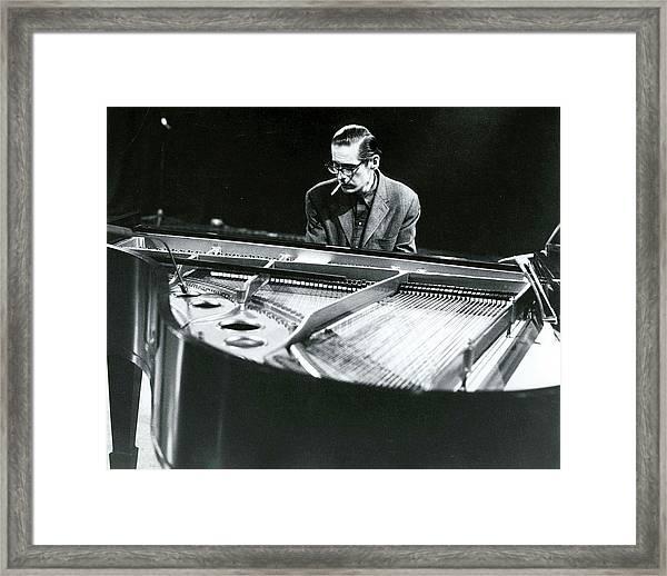 Photo Of Bill Evans Piano Framed Print