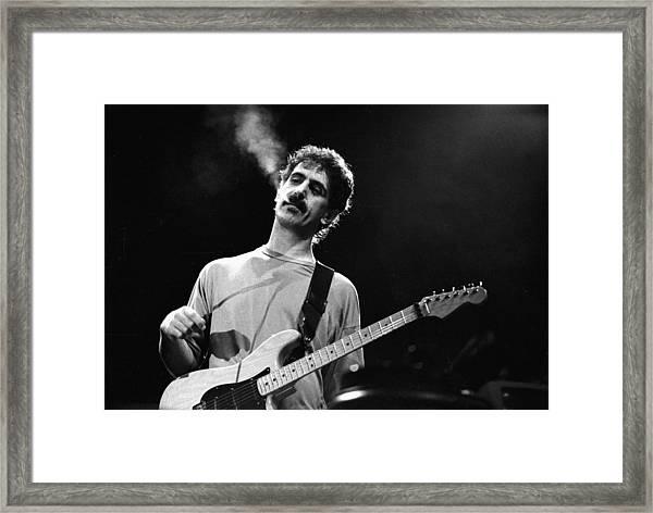 Photo Of Frank Zappa Framed Print by Paul Bergen