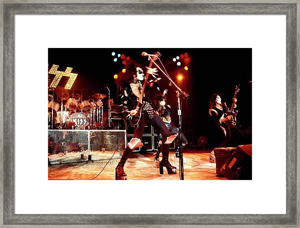 Photo Of Gene Simmons And Kiss And Framed Print