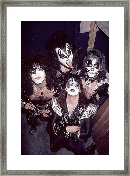 Photo Of Gene Simmons And Paul Stanley Framed Print by Fin Costello