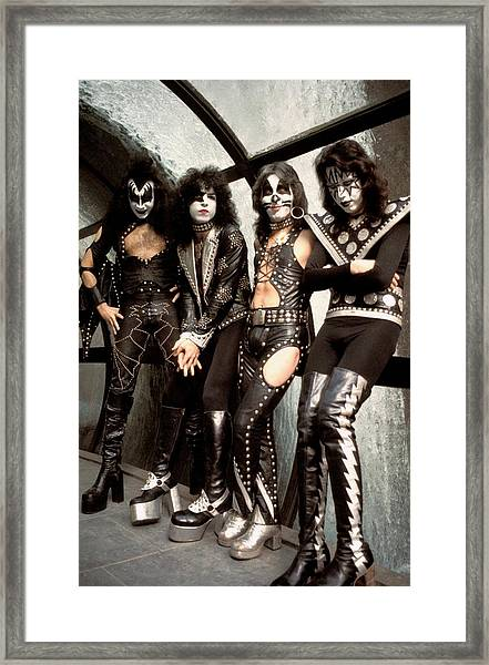 Photo Of Paul Stanley And Kiss And Ace Framed Print
