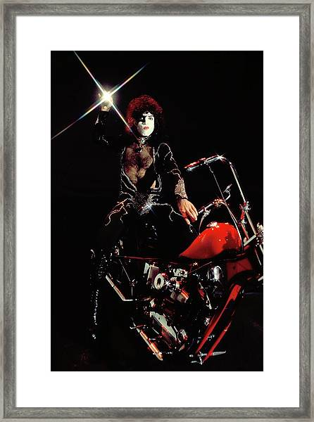 Photo Of Paul Stanley And Kiss Framed Print