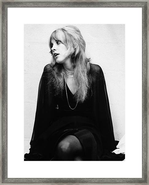 Photo Of Stevie Nicks And Fleetwood Mac Framed Print