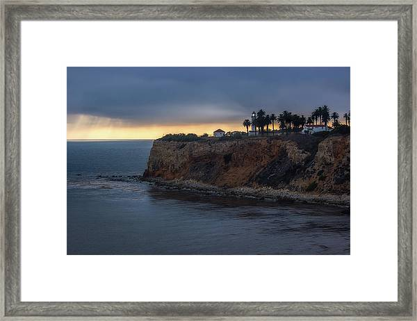 Point Vicente Lighthouse At Sunset Framed Print