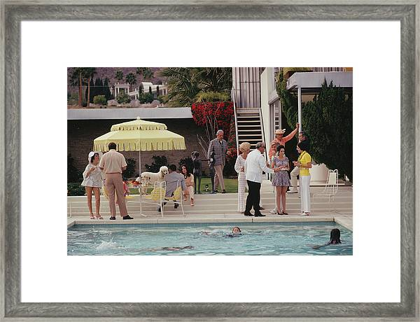 Poolside Party Framed Print