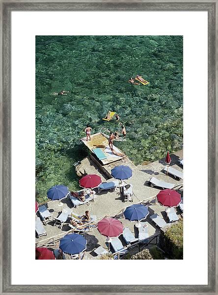 Porto Ercole Beach Framed Print