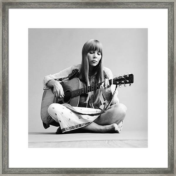 Portrait Of Joni Mitchell Framed Print