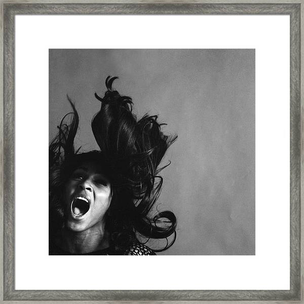 Portrait Of Tina Turner Framed Print
