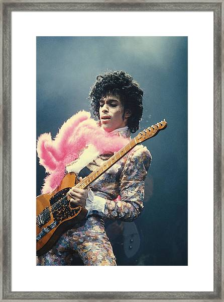Prince Live At The Forum Framed Print