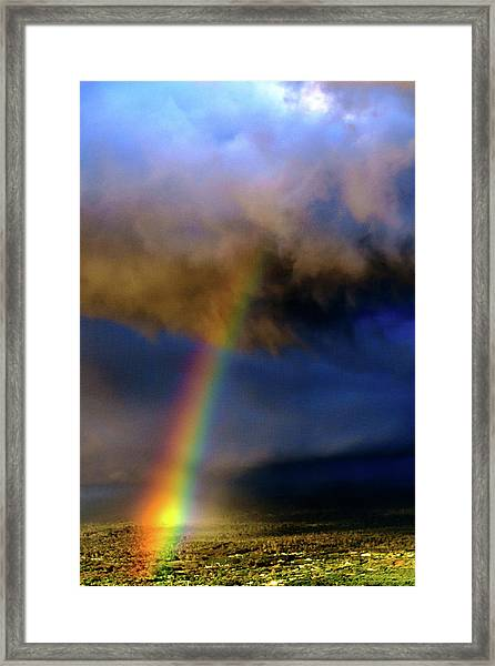 Rainbow During Sunset Framed Print