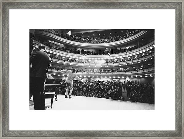 Ray Charles At Carnegie Hall Framed Print