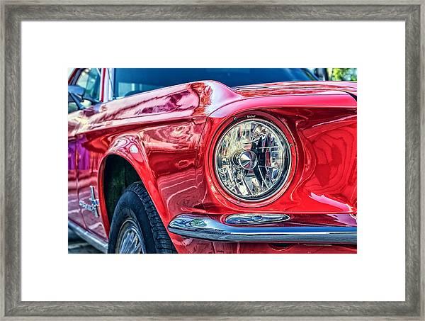 Red Vintage Car Framed Print