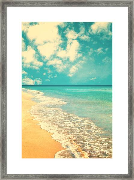 Retro Beach Framed Print by Andrekart Photography