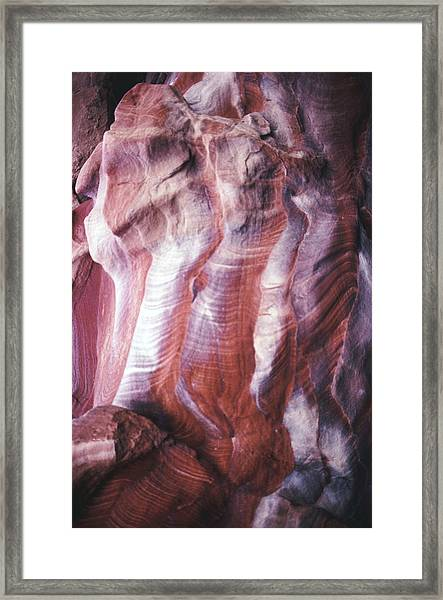 Rocky Background Framed Print by John Foxx
