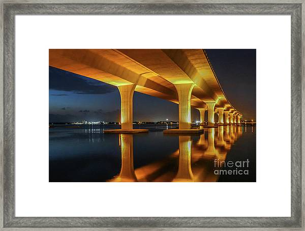Framed Print featuring the photograph Roosevelt Reflection by Tom Claud