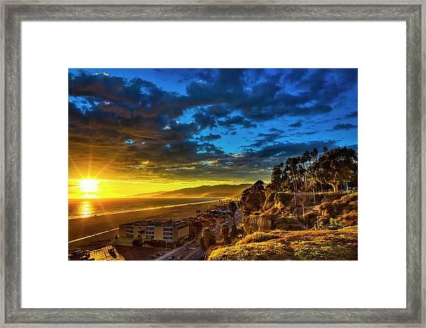 Santa Monica Bay Sunset - 10.1.18 # 1 Framed Print