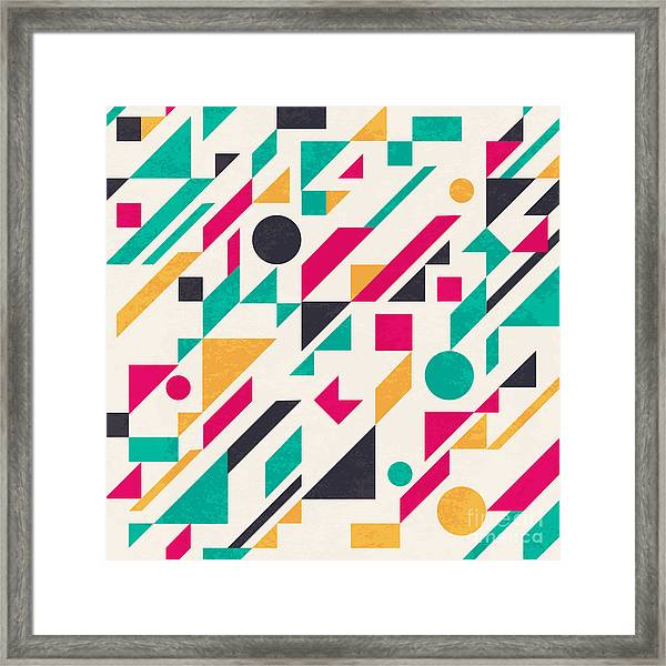 Seamless Abstract Pattern With Framed Print