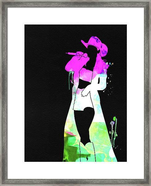 Shania Watercolor Framed Print