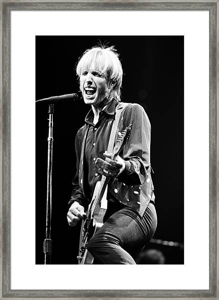 Singer Tom Petty Performs In Concert Framed Print