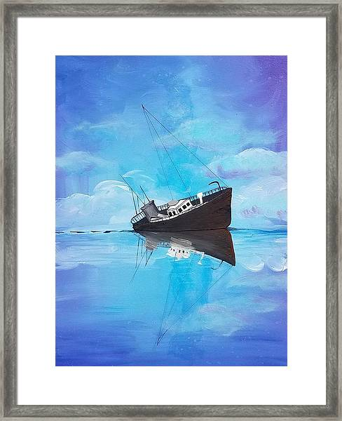 Sinking Ship  Framed Print