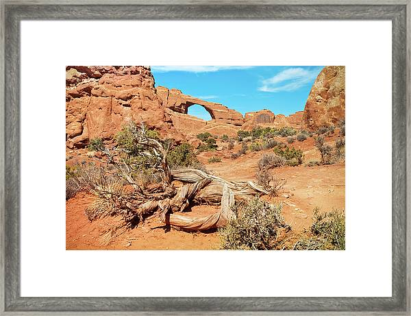 Skyline Arch, Arches National Park Framed Print by Fotomonkee
