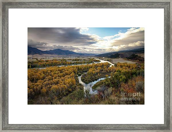 South Fork Autumn Framed Print
