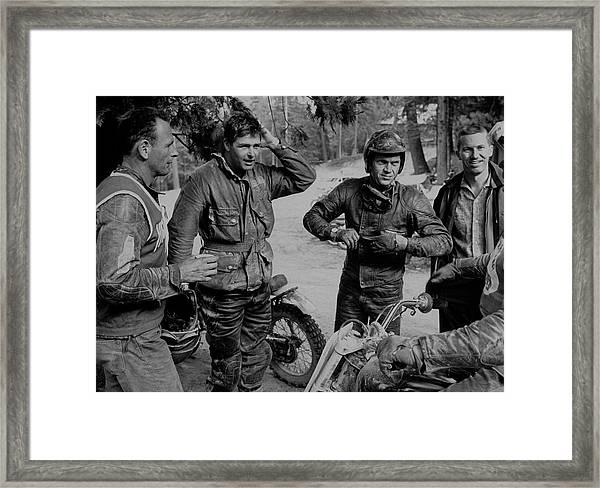 Steve Mcqueenbud Ekins Framed Print by John Dominis