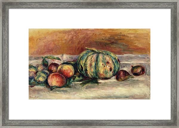 Still Life With Melon Framed Print