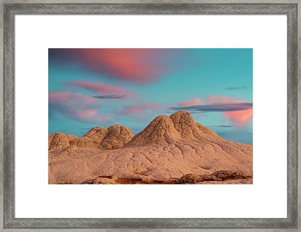 Stunning Clouds At Sunrise, Vermillion Framed Print by Howie Garber
