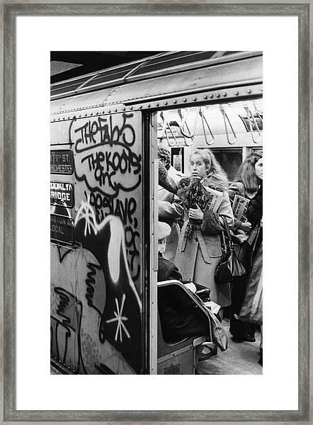 Subway Car, 1977 Framed Print